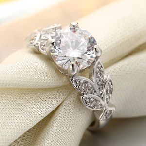 Sparkling Silver Plated Crystal Ring